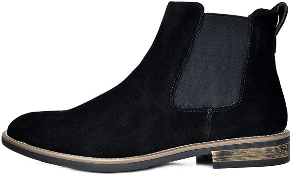Black Chelsea Boots With Olive Green Pants
