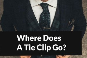 Where Does A Tie Clip Go?