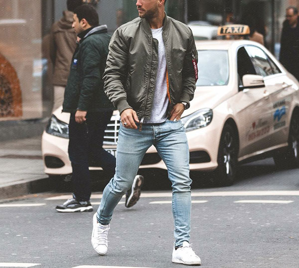 MA-1 Bomber Jacket Alpha Industries Outfit