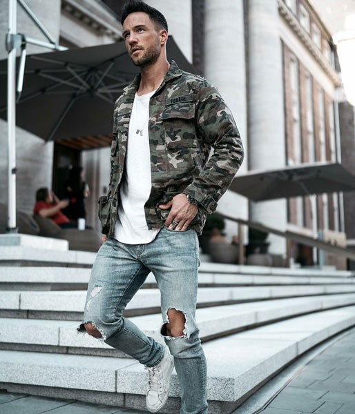 7 Men's Outfits with Light Blue Jeans
