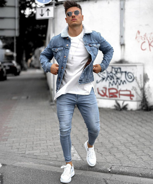 What to Wear with Light Blue Jeans guys
