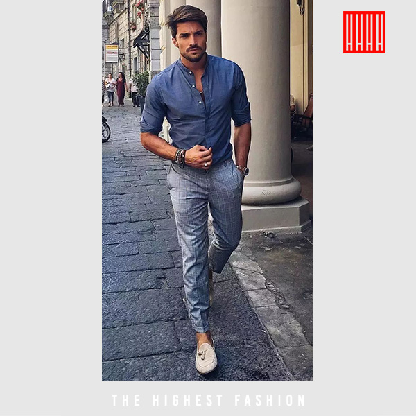 Chambray outfit for men