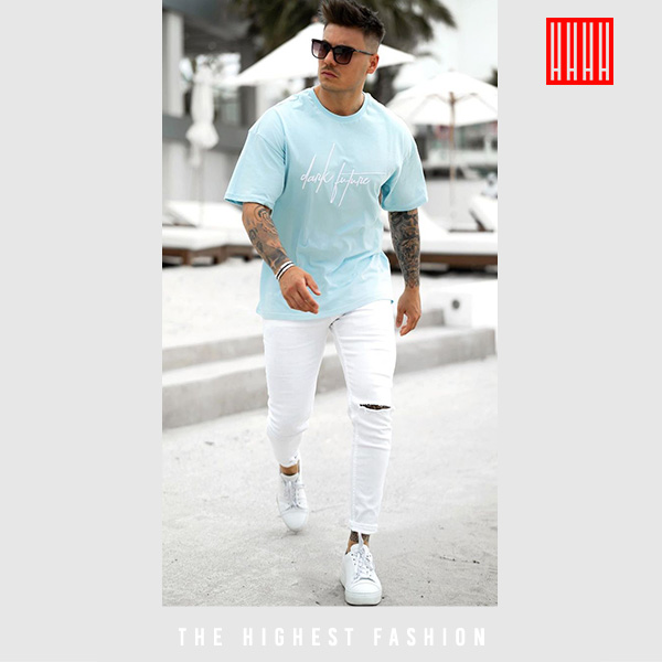 Jeans Tee summer outfit for men