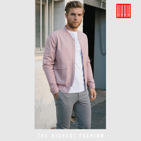 Pastel summer outfit for men
