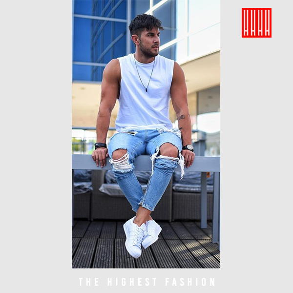 Summer outfit with jeans for men